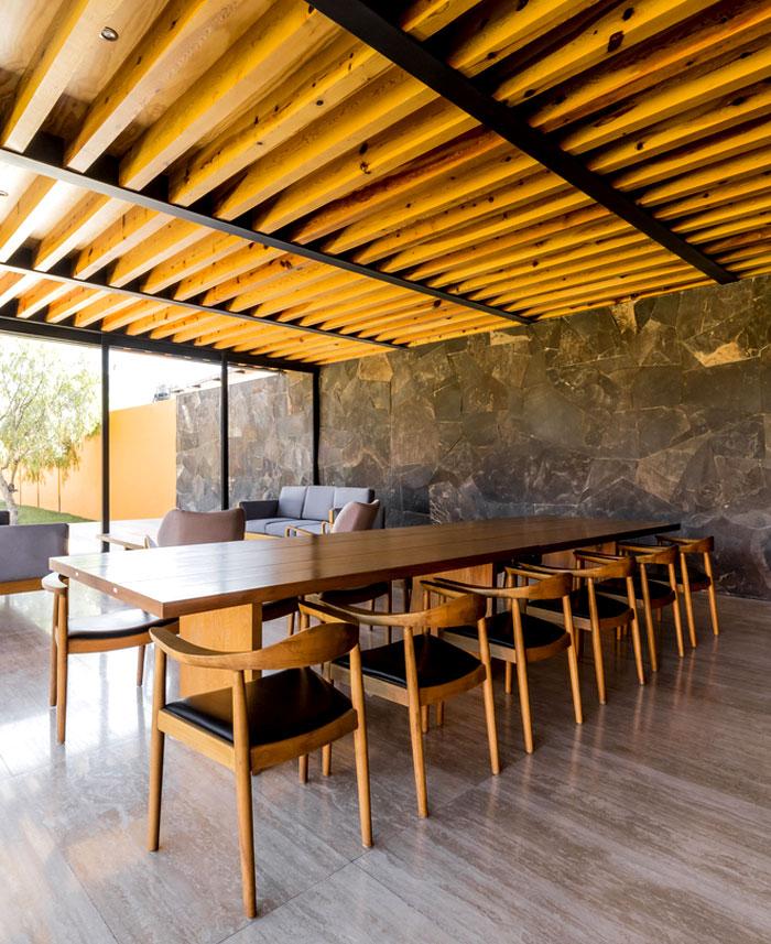 dining room stone walls decor ideas 5
