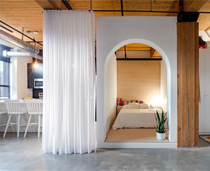 small loft apartment studio ac 4