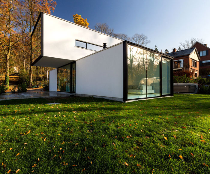 Modern Cube Shaped House In Belgium Interiorzine