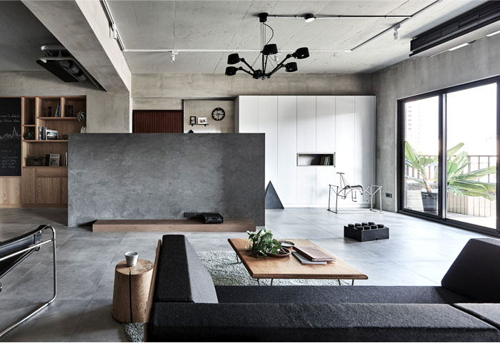 Industrial Decor And Japanese Lifestyle Interplay In Apartment By