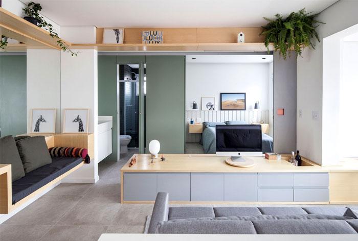 small space apartment estudio bra 9