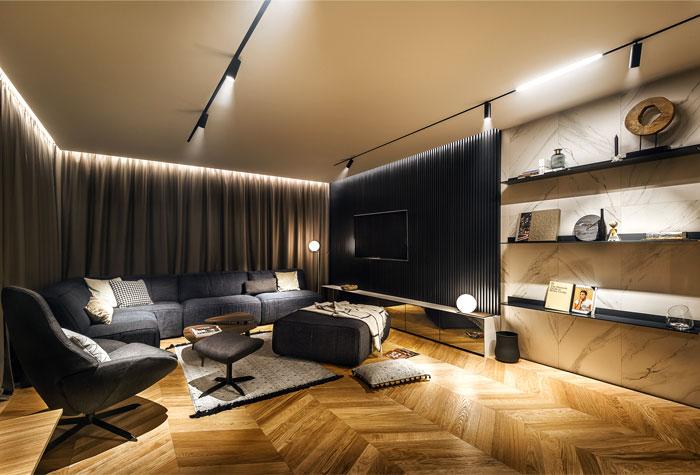 All In Studio Created Modern Bachelor Pad Sofia
