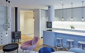family apartment chic pastel colors 338x212