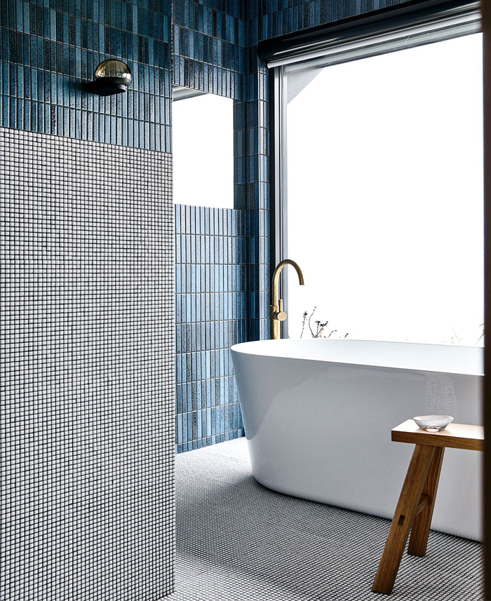 contemporary bathroom tiles and colors