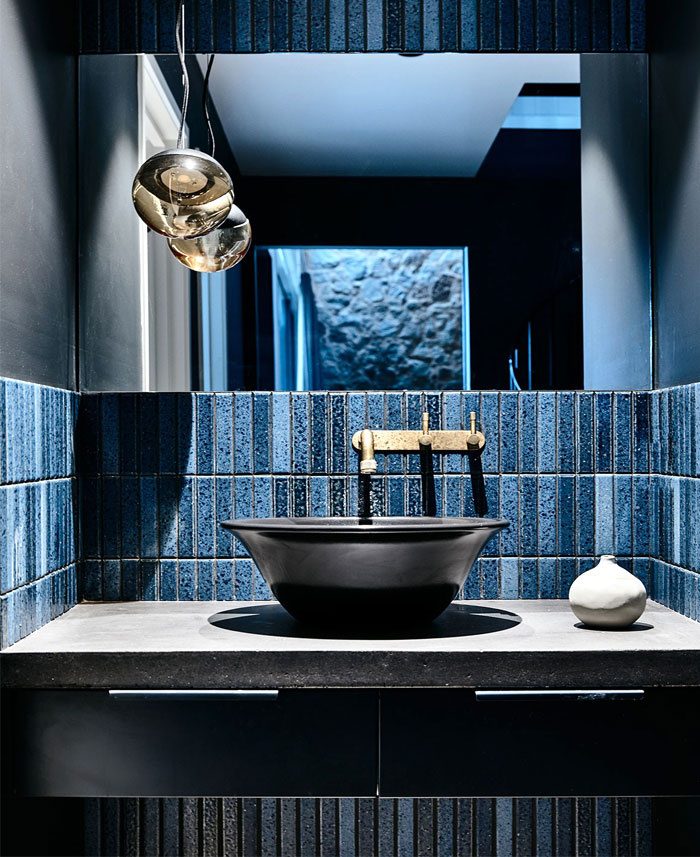 denim color bathroom ceramic tile