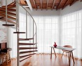 Compact Mezzanine Apartment with Spiral Staircase