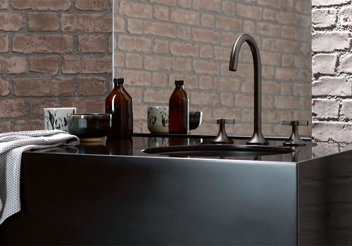 matte black bathroom fixtures are on trend