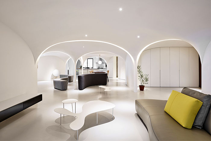 ... And Che Wang Architects Lead To The Creation Of This Contemporary Space  In Taichung, Taiwan That Embodies The Smooth Curve And Purity Of Zen Design  Into ...