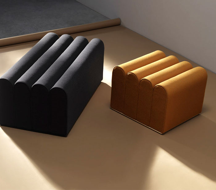 arkad pouffes note design studio 5