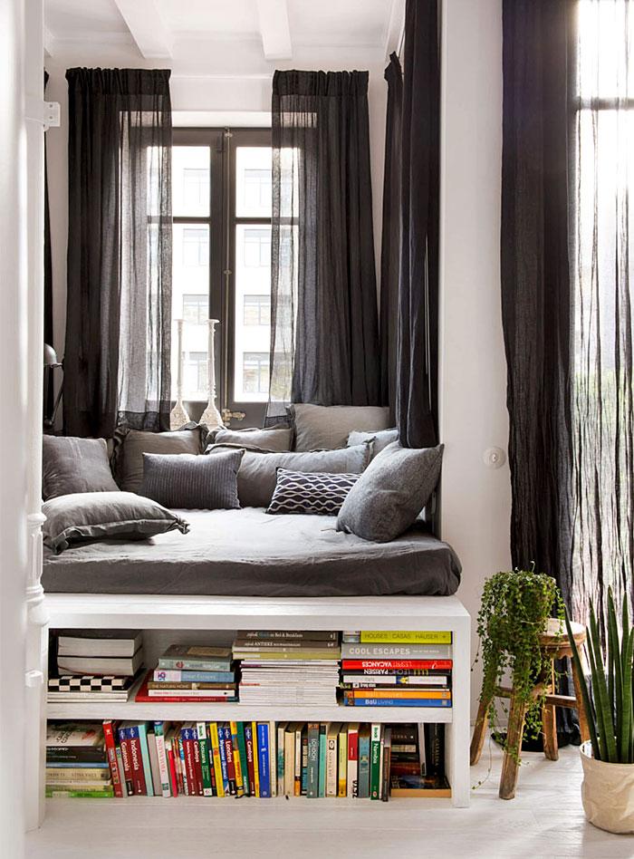 cozy reading sleeping nook idea