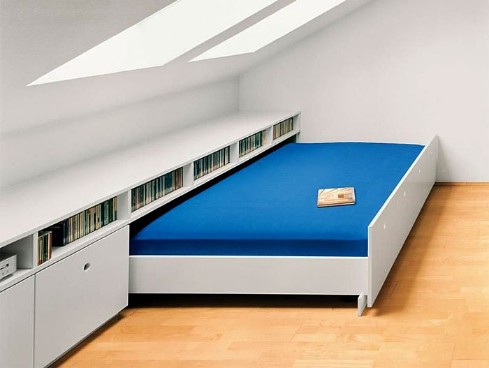 guest hideaway bed in the attic