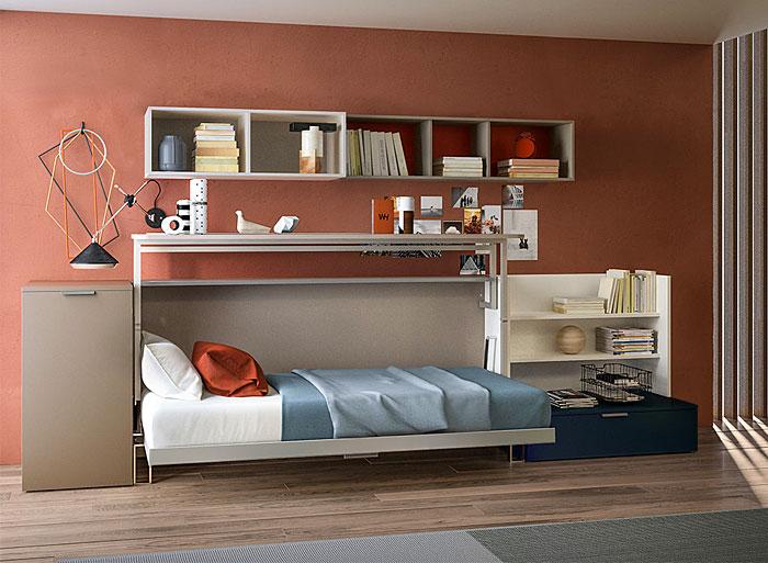 hide away desk bed