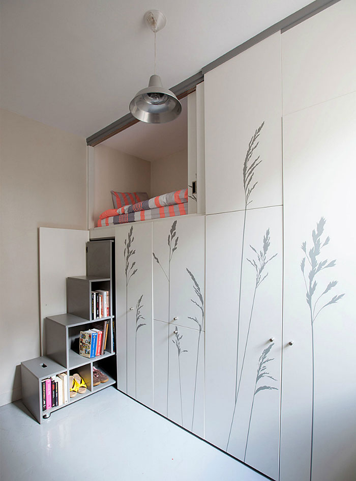 how to hide a bed in a cupboard