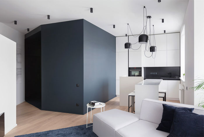 Moscow Studio Apartment With Smart Zoning Space Interiorzine