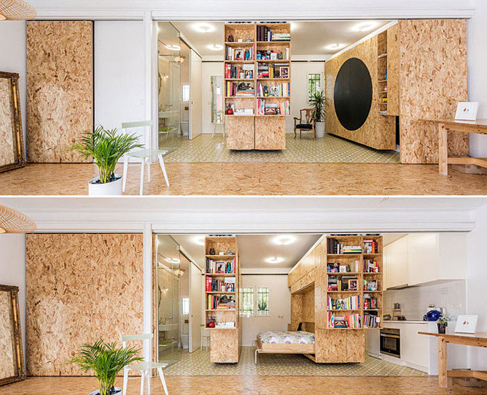 space saving movable walls murphy bed