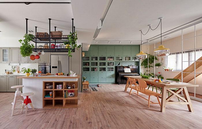 family friendly open plan kitchen living room