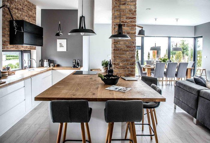l shaped modular kitchen island