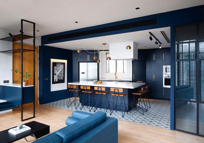 simple colour palette kitchen open concept