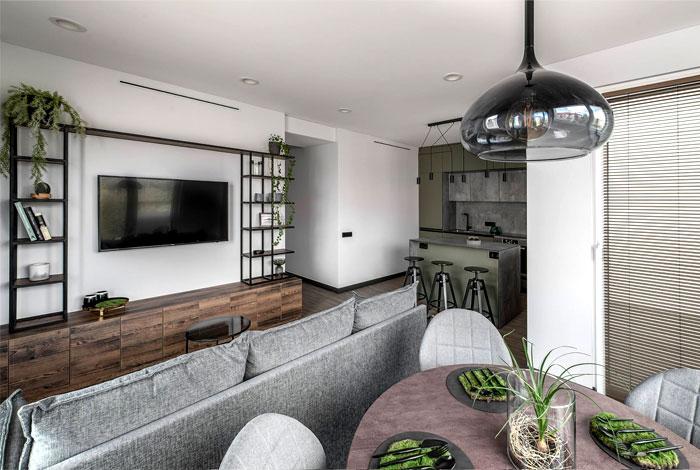 moss green color decor apartment interdio 15