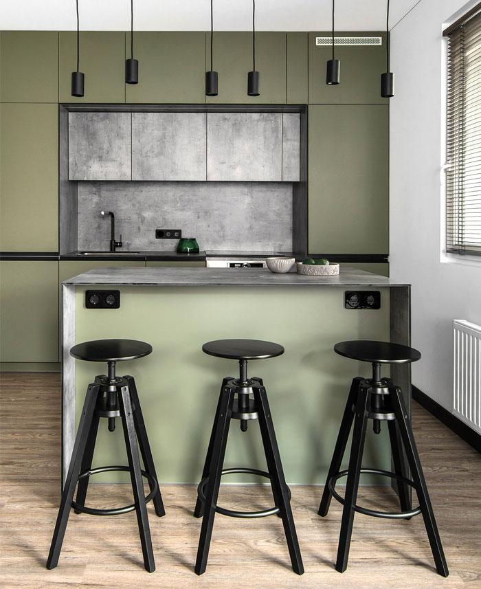 moss green color decor apartment interdio 16