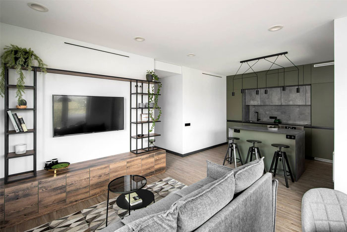 moss green color decor apartment interdio 18