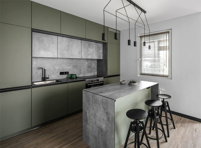 moss green color decor apartment interdio 19
