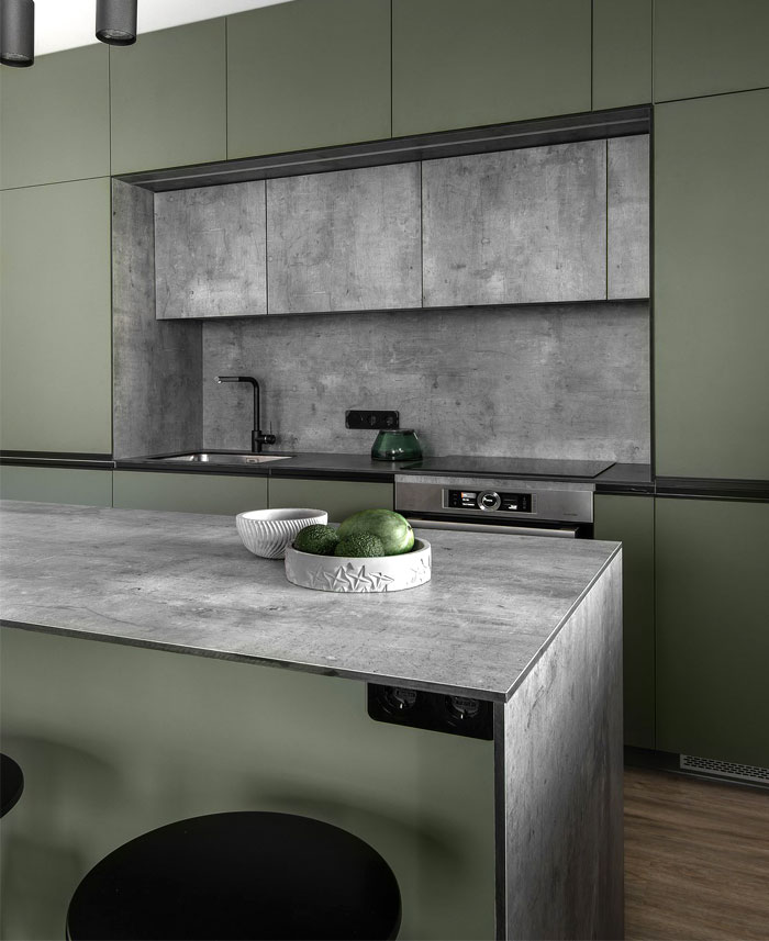 moss green color decor apartment interdio 21