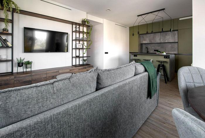 moss green color decor apartment interdio 22