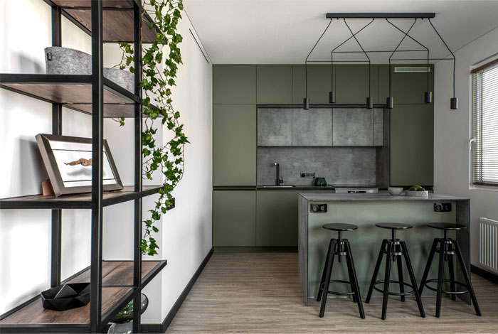 moss green color decor apartment interdio 3