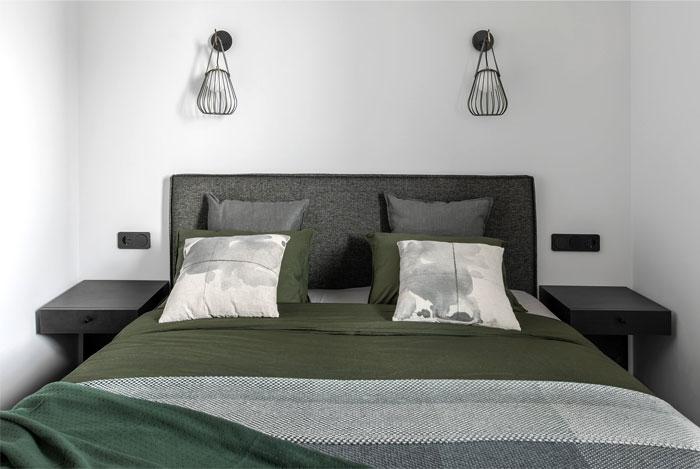 moss green color decor apartment interdio 8