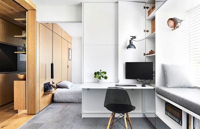 multifunctional design apartment 35 square meter 11