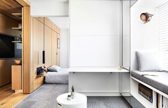 multifunctional design apartment 35 square meter 9