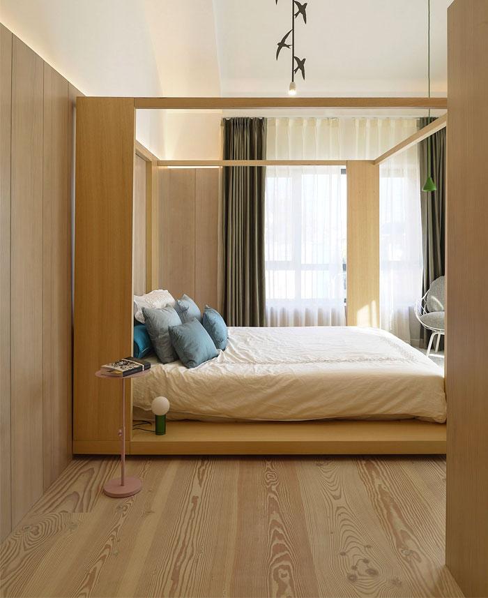 canopy bed mens bedroom sculptural accent