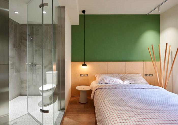 hot trend combo bedroom bathroom