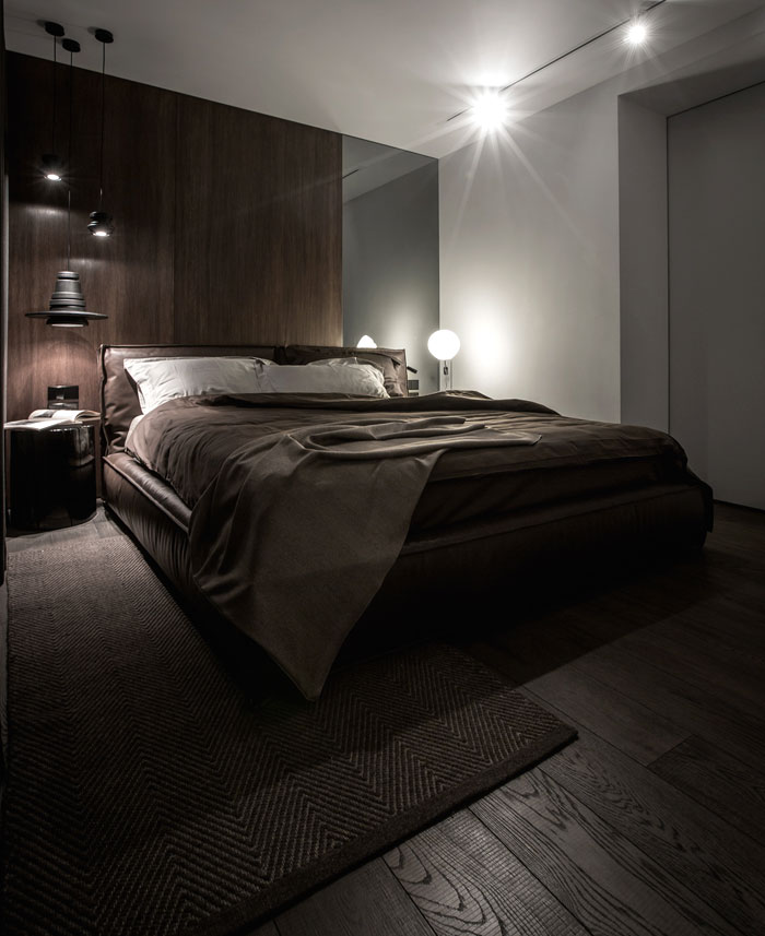 luxurious leather bed