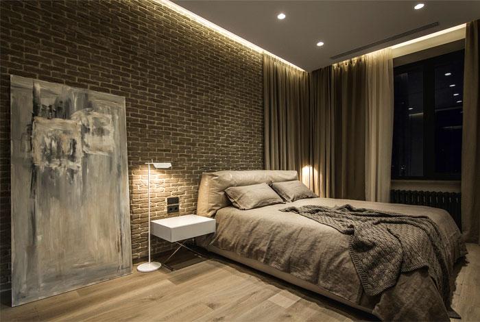 luxurious leather bedroom decor