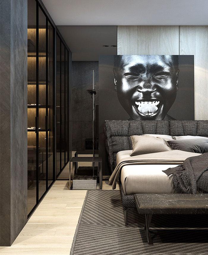 luxury bedrooms dark wall decor