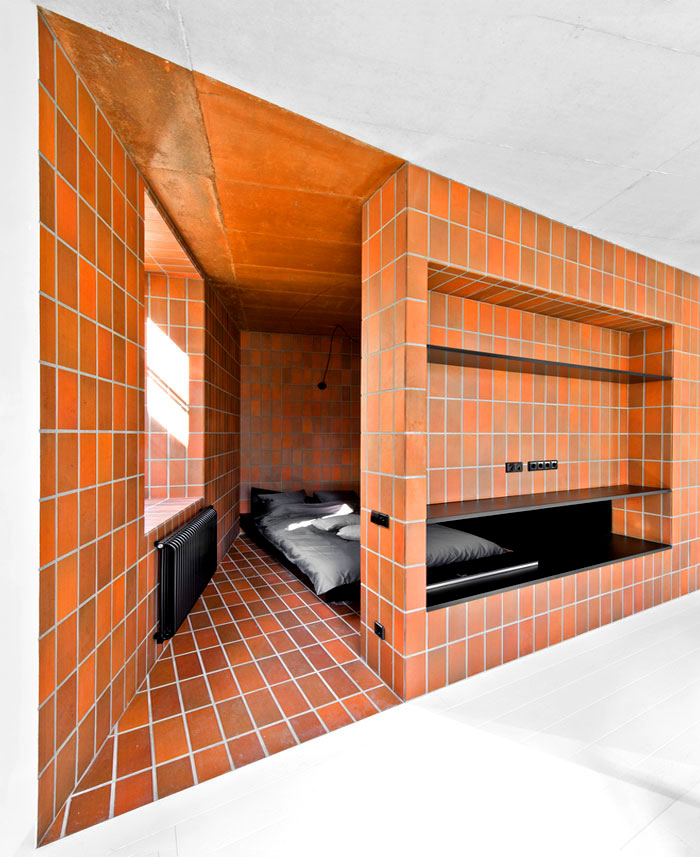 masculine space bedroom terracotta decor