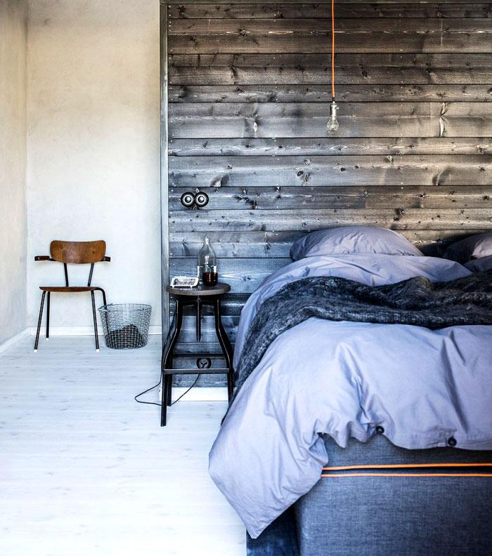 natural materials wood modern mans bedroom