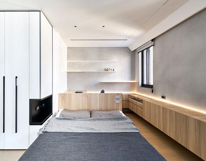 rotating flat screens modern mans bedroom 1