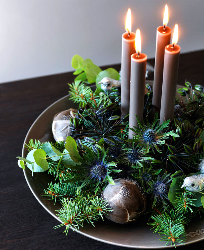 2019 christmas green wreath decorations 3