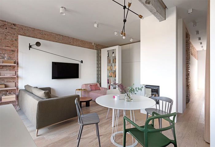 Small Urban Chic Apartment by Olha Wood - InteriorZine