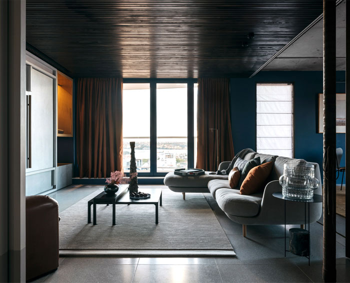 apartment sydney amber road dark tones 13
