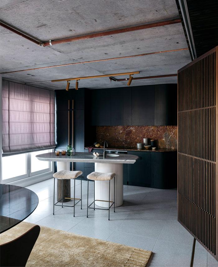 apartment sydney amber road dark tones 17