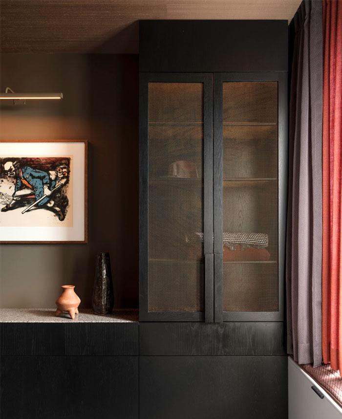 apartment sydney amber road dark tones 4