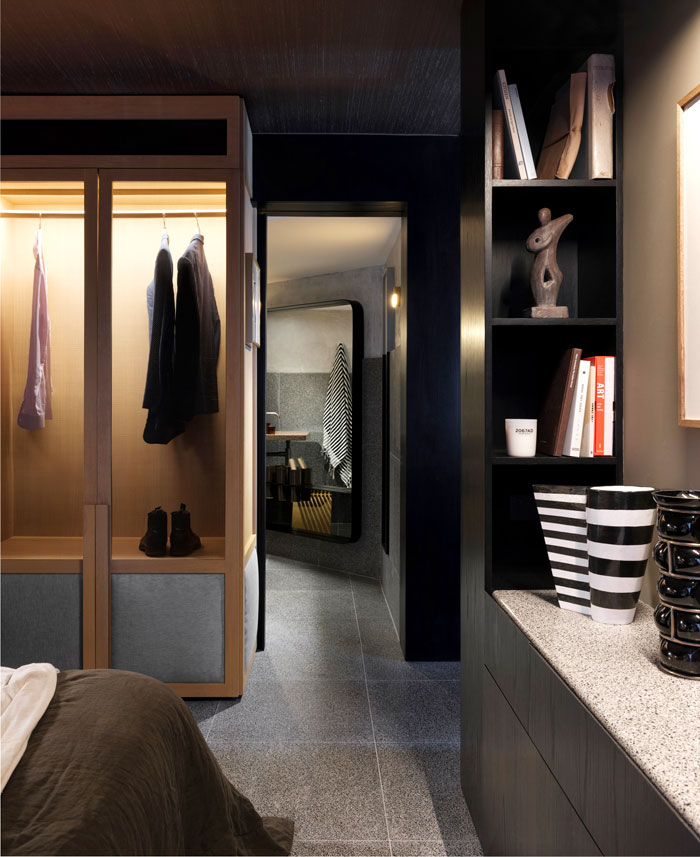 apartment sydney amber road dark tones 6