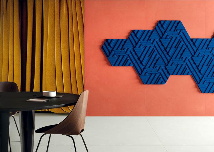 color design trend 3D ceramic tiles florim