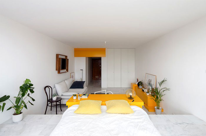 functional housing projects spaces under 40m2