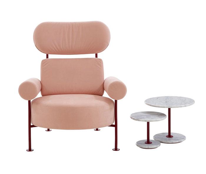 metallic glamor velvet armchair ligne roset