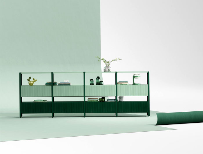 pontile modular shelving system interiorzine trends